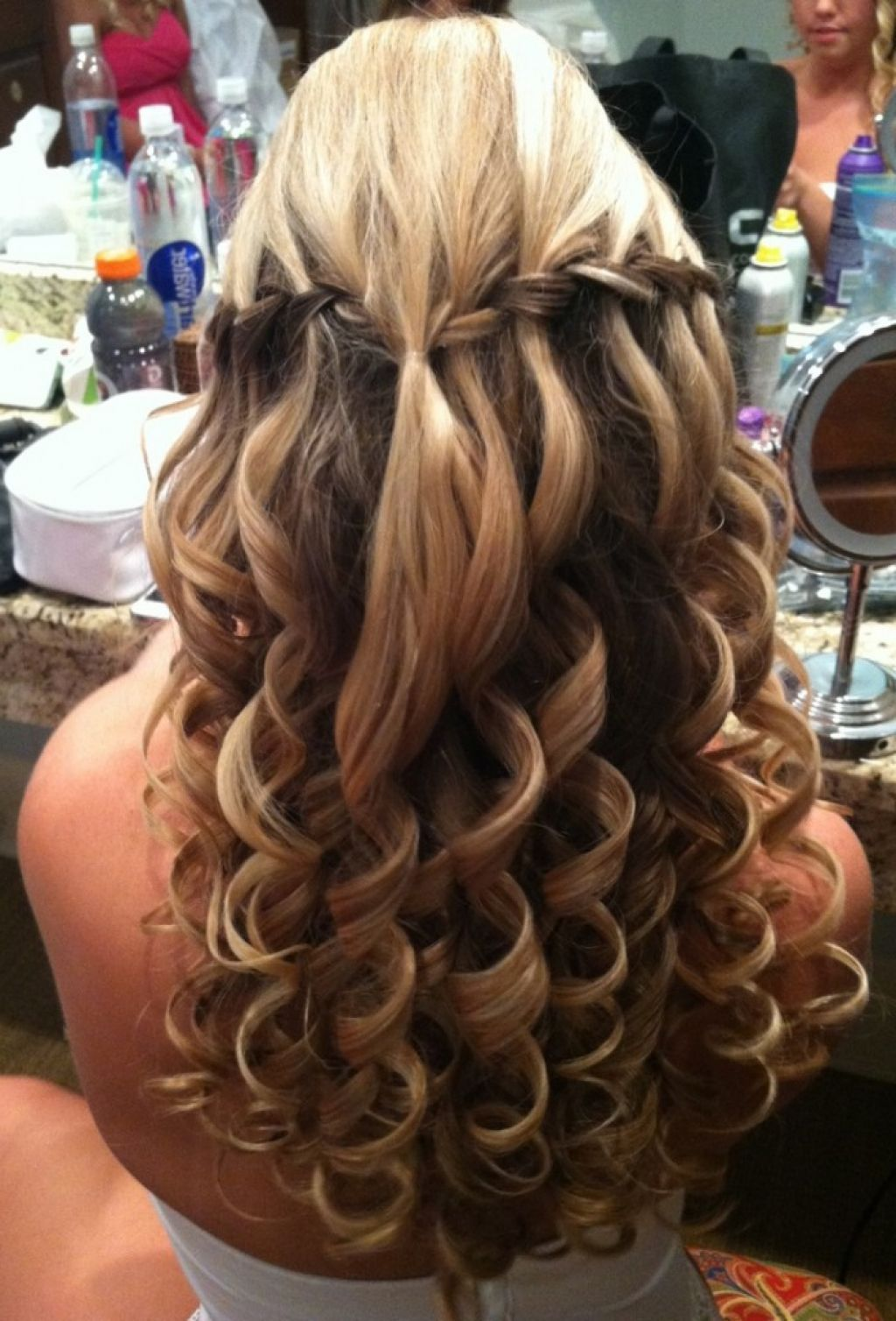 up half down hair for prom hairstyles pinterest prom