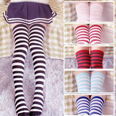 Sweet striped knee socks