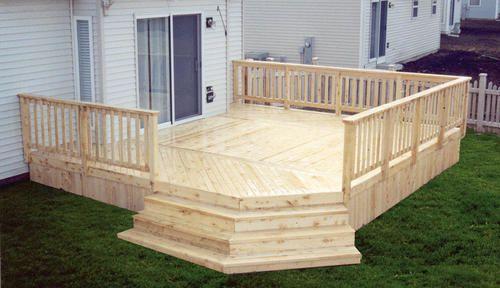 16 X 18 Deck W Deck Solid Deck Board Apron At Menards
