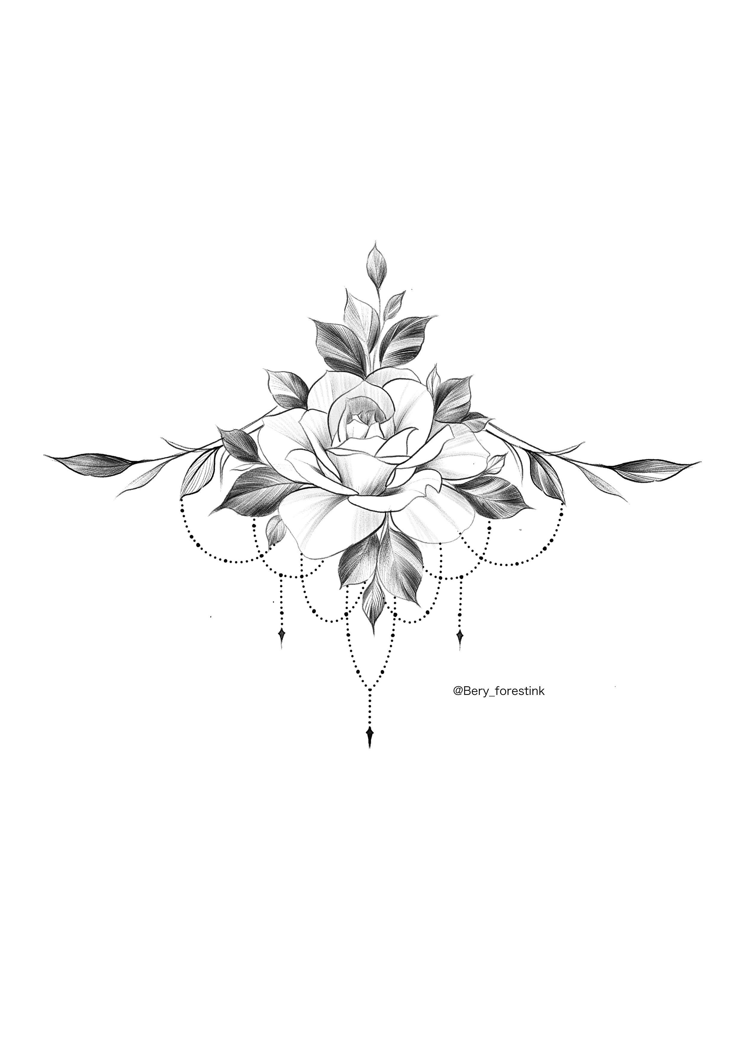 Photo of Tatouage rose / tatoueur Bery / tattooflash