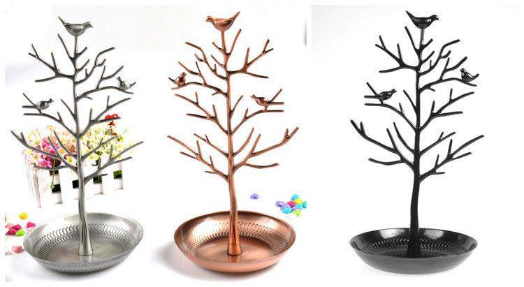 Hs88 One Bird Tree Stand Jewelry Earrings Necklace Display Ring Holder Show Rack Tree Jewelry Holder Necklace Jewelry Holder Necklace Display