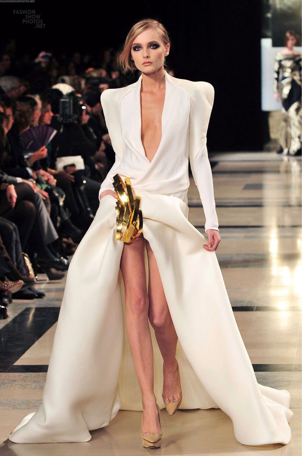 tuxedo dress I love minus the shoulders and the model could use a meal. Sorry not sorry