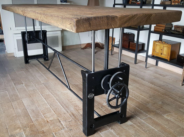 Loungeset met pomptafel in hoogte verstelbare tafel gerbie limmen