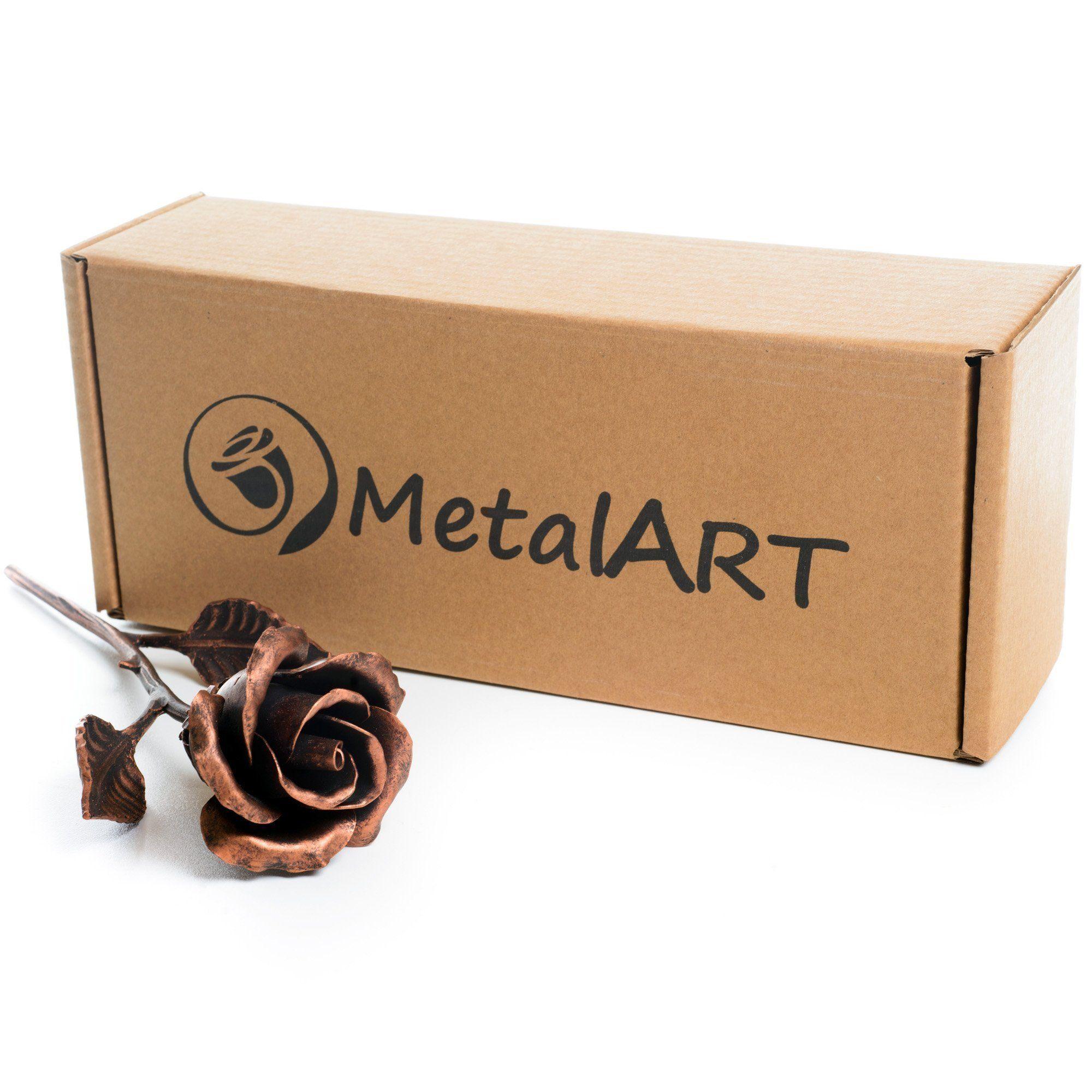 7th anniversary gift for her handmade copper rose