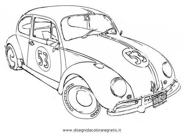 Bug Car Coloring Pages : Love bug herbie the movie coloring page pages