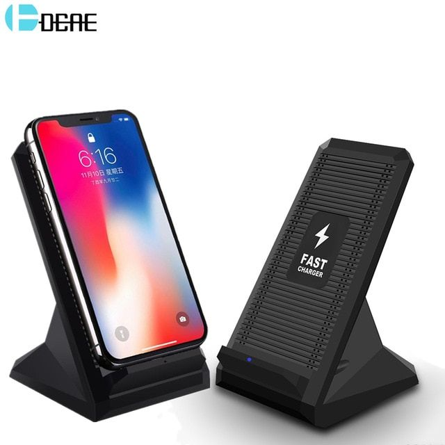 best sneakers 26a31 8365d DCAE 10W Qi Wireless Charger For iPhone XS Max X 8 Plus QC 3.0 Quick ...