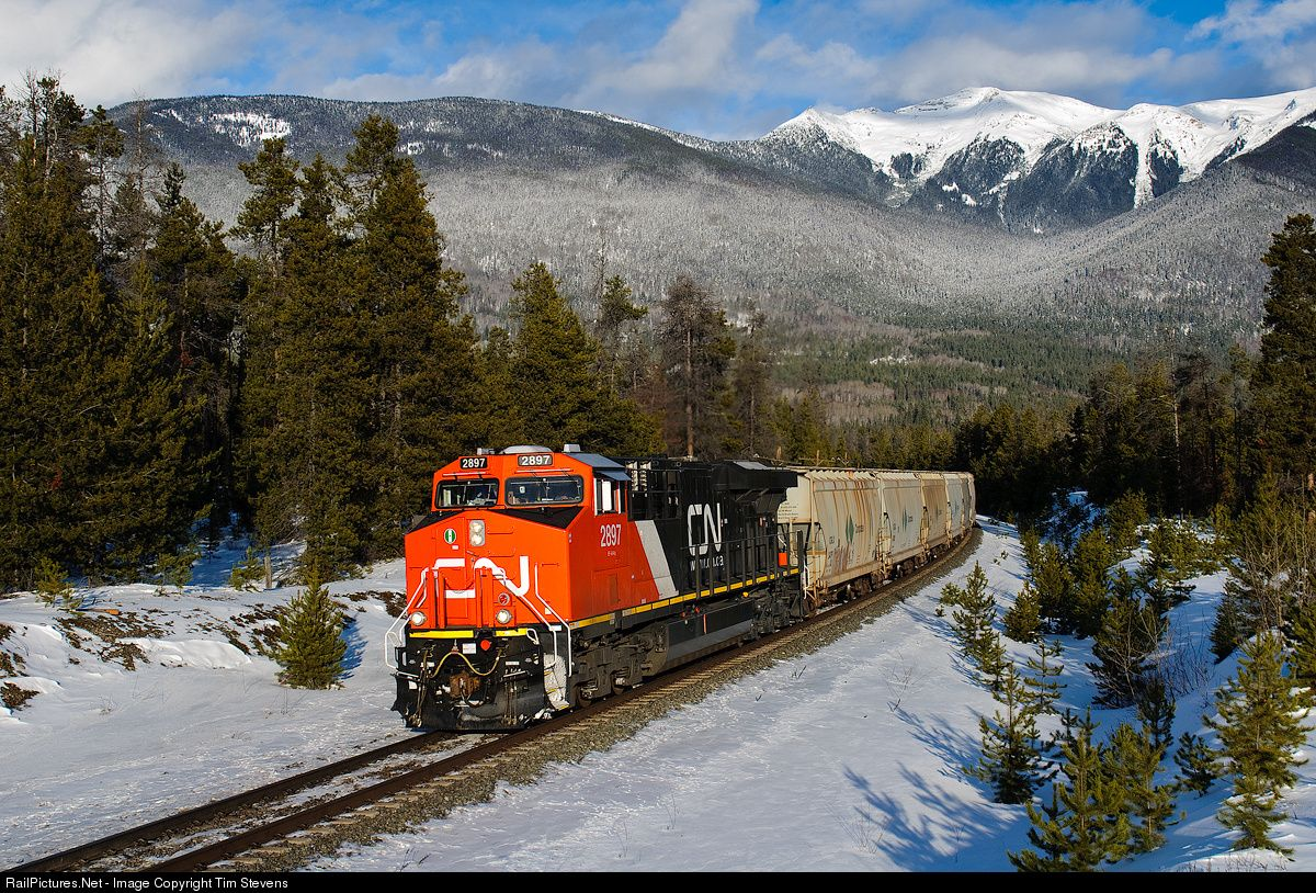 RailPictures.Net Photo: CN 2897 Canadian National Railway GE ES44AC at Valemount, British Columbia, Canada by Tim Stevens