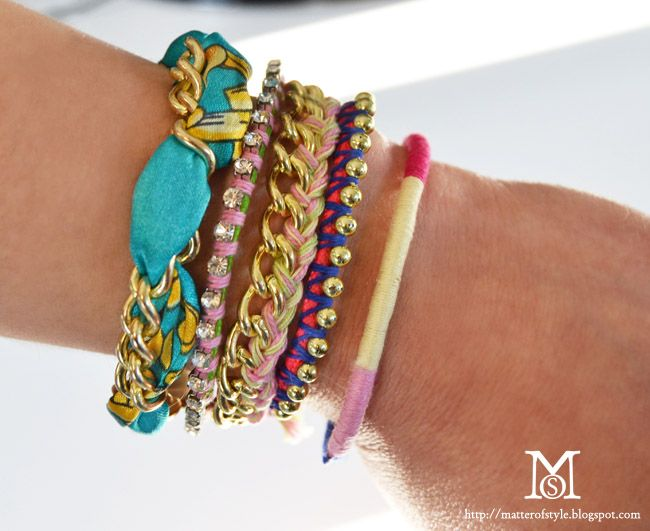 arm party: how to make 5 bracelets in 10 minutes