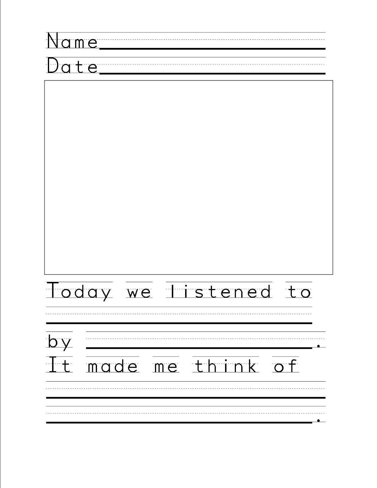 Elementary Music Class Listening Response Sheet Elementary Music Class Kindergarten Music Music Classroom