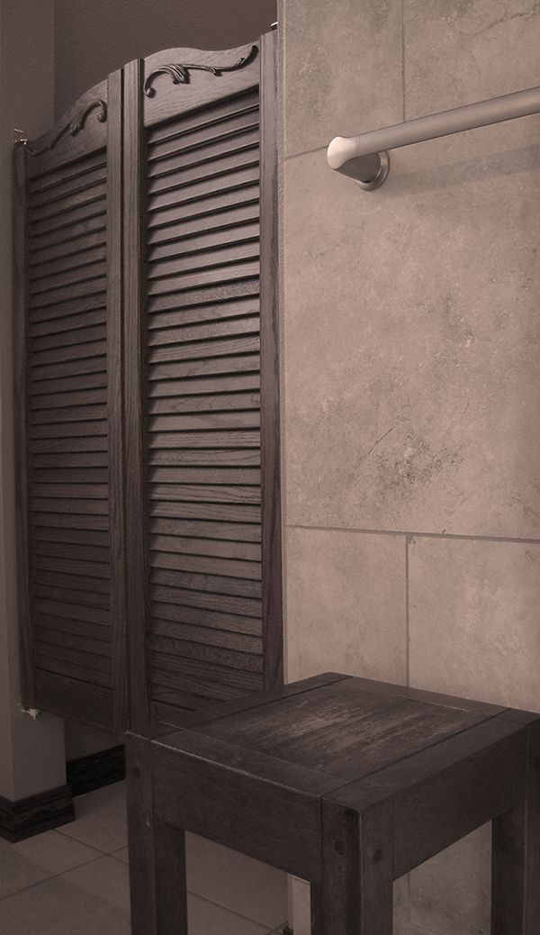 Remodeling Bathroom Doors a great way to create privacy in a #bathroom #remodel without