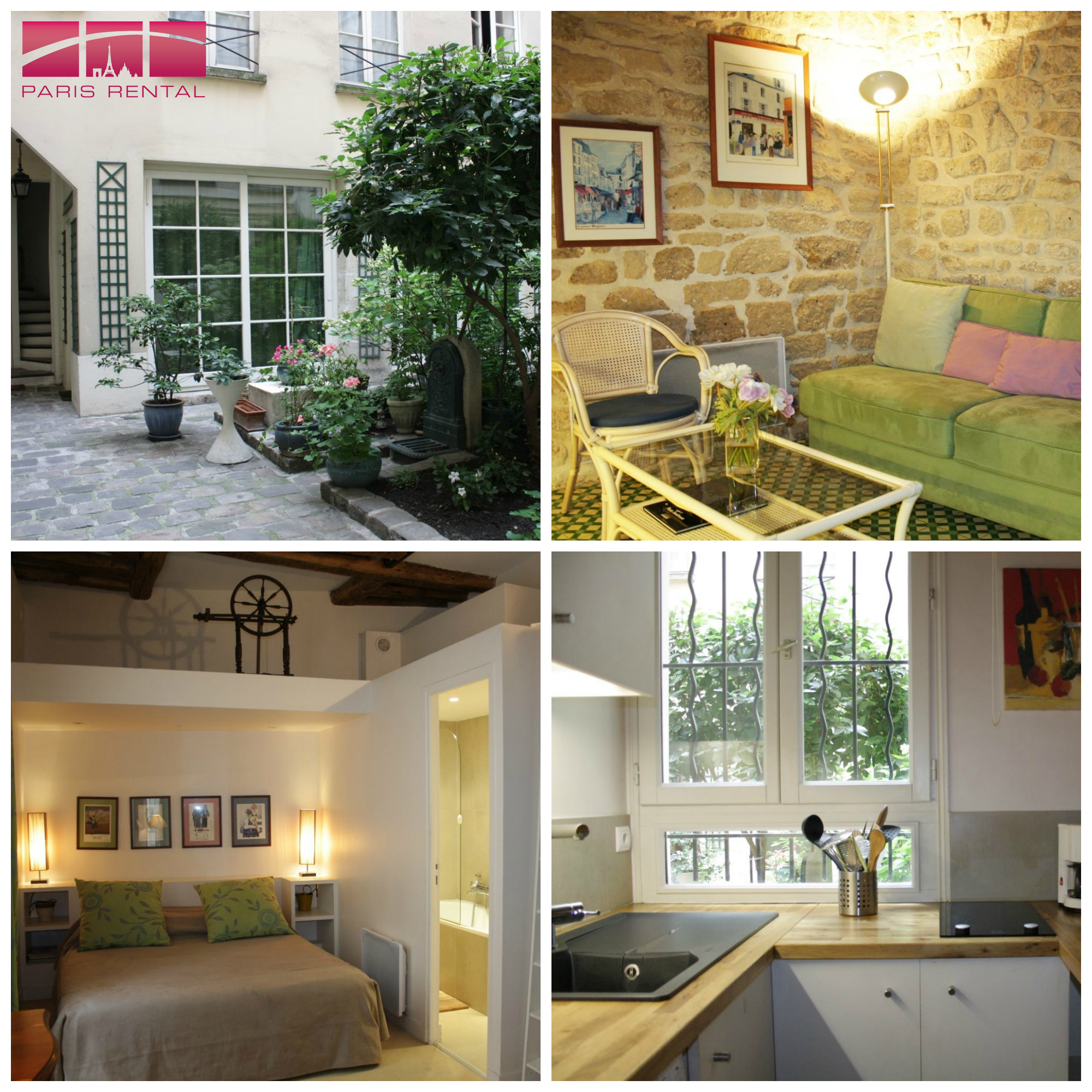This #cozy #1bedroom #furnished #rental can be found in the heart of the #Marais.