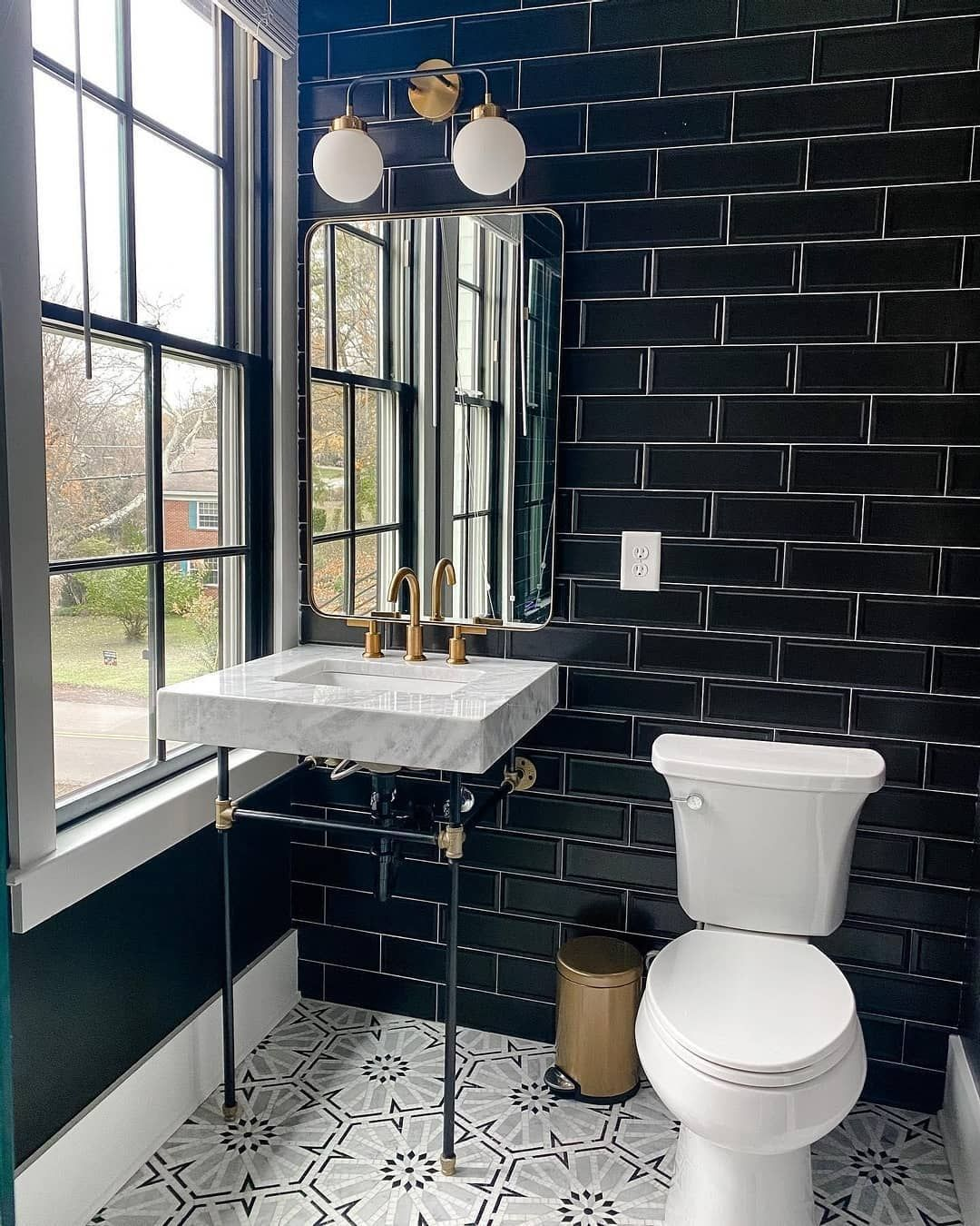 Don T Be Afraid To Go Bold In 2021 The Tile Shop Black Subway Tiles Bathroom Trends