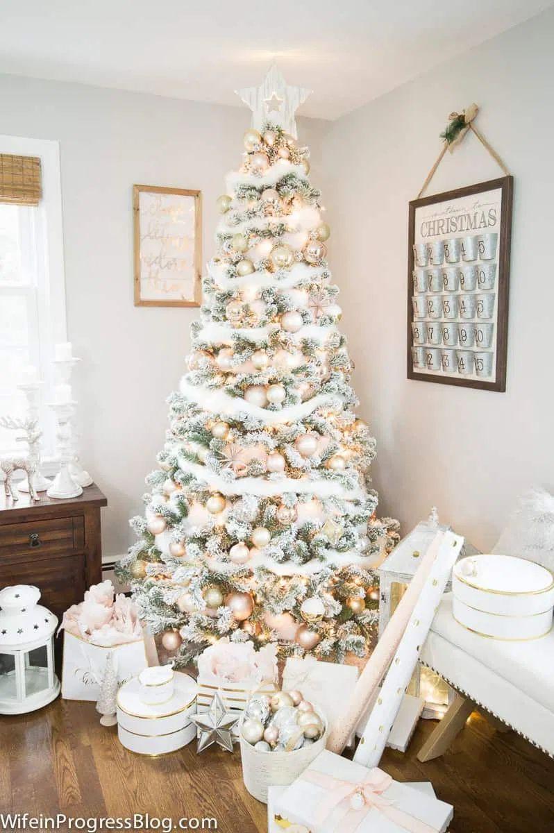 Christmas Tree Decorating Ideas 2020 -   17 christmas tree decor 2020 pink ideas