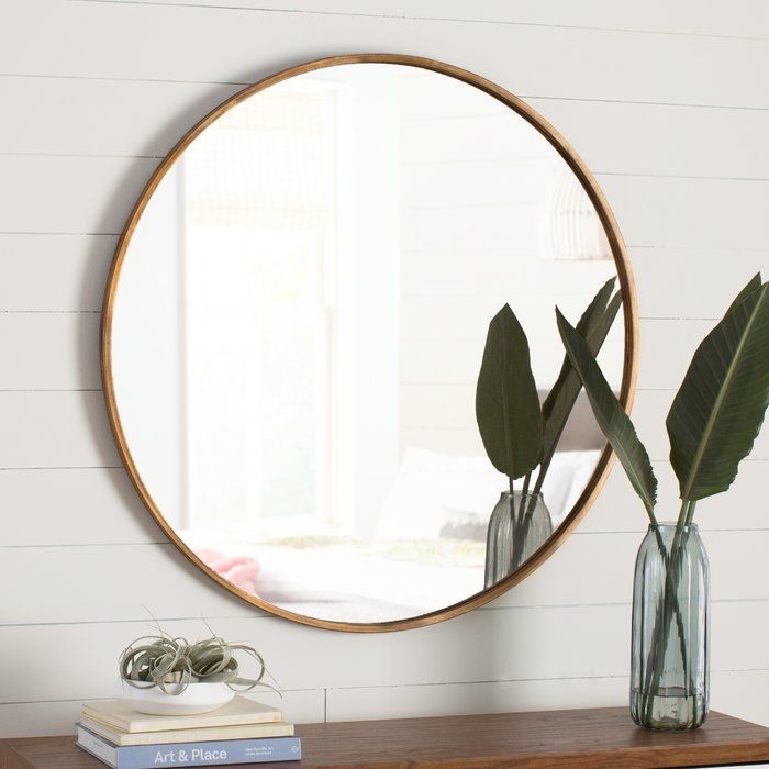 You Ll Love The Round Metal Framed Mirror At Allmodern With Great Deals On Modern Decor Pillows Products And Free Shipp Decor Home Decor Metal Frame Mirror