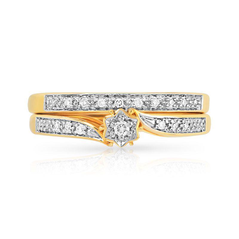Duo alliance solitaire or 2 tons diamant WOW parfait, deux en un- 900 euros