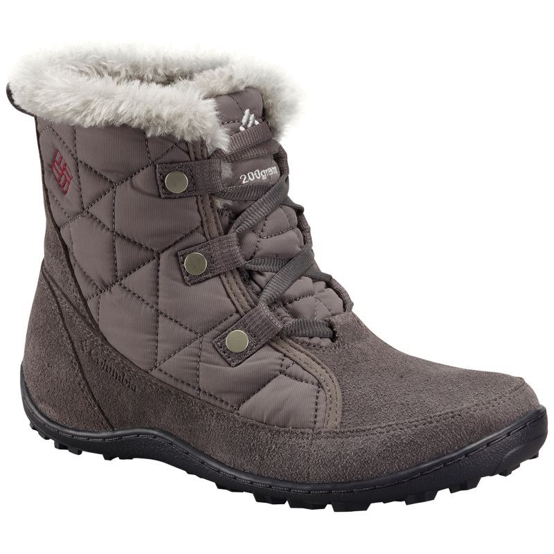 Columbia Women's Minx Shorty Alta Omni-Heat Snow Boot, Zinc, Desert Sun, 10 B US