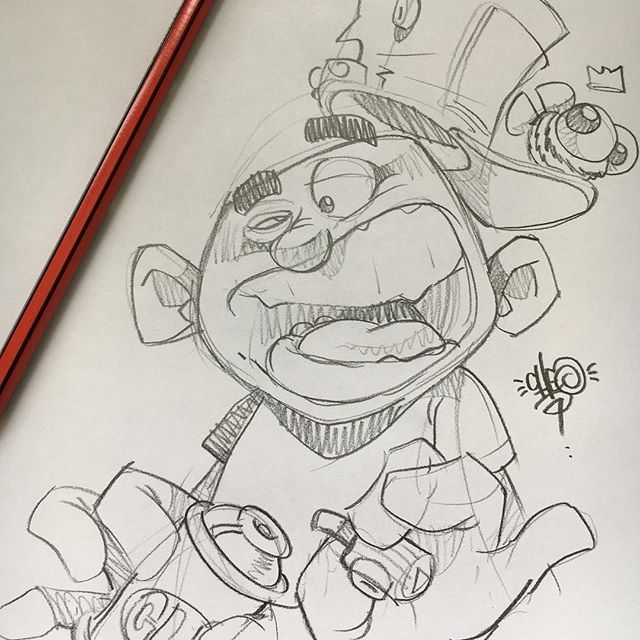 Grabbed 2 Minutes To Do A Sketch From My Brain Hole Cheo Quick