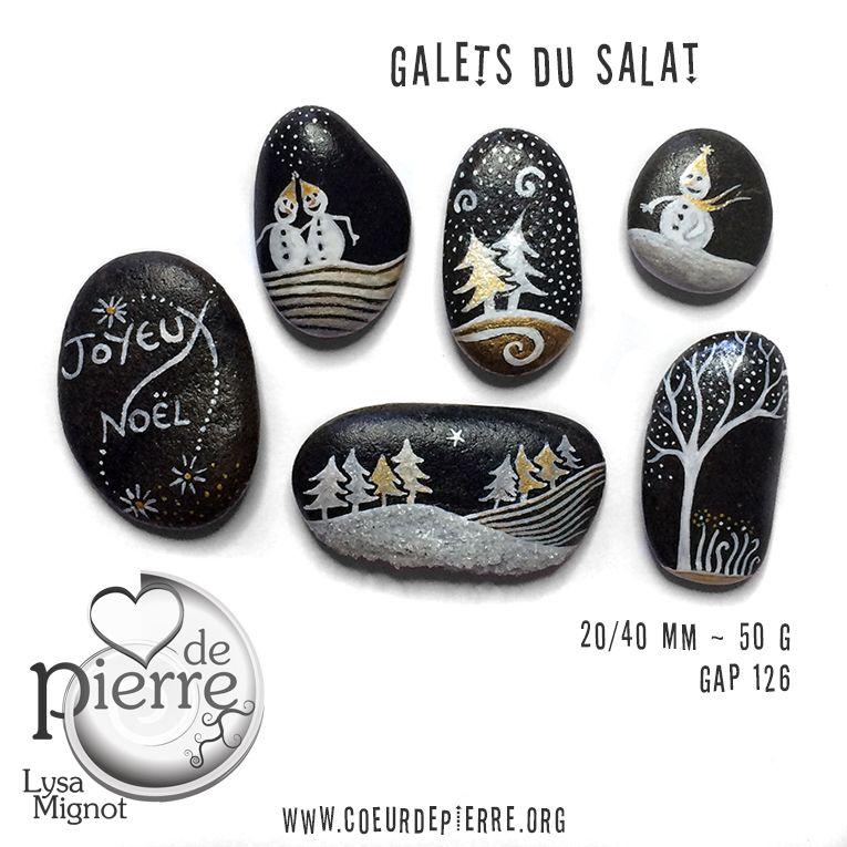 Galets peints salat et garonne no l f tes www - Cailloux decoratifs ...