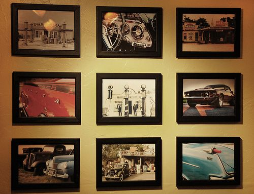 Man Cave Wall Art love the idea of pictures in the bathroom. nice to not need to