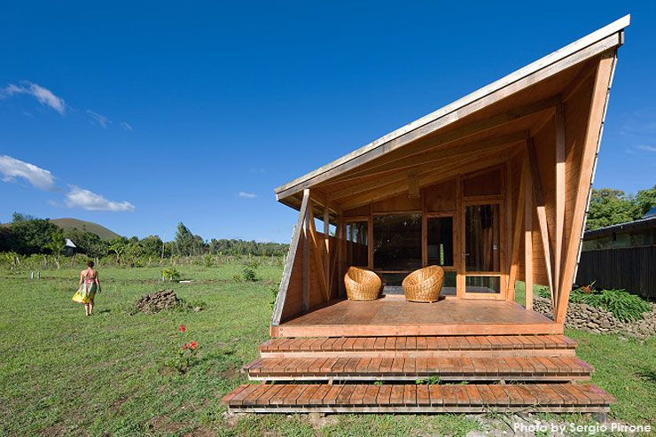 Tiny cabin on Easter Island