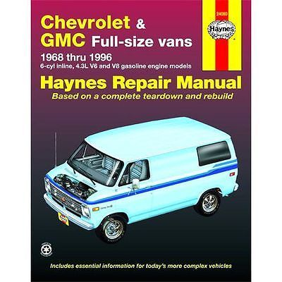 Haynes Repair Manual New Chevy Express Van Savana Chevrolet For