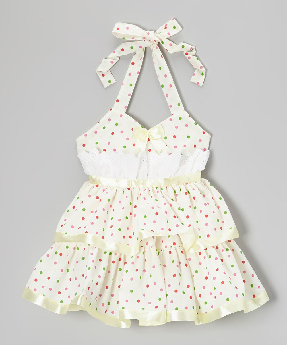 Yellow dress kids  Lele for Kids Yellow Polka Dot Halter Dress  Toddler u Girls