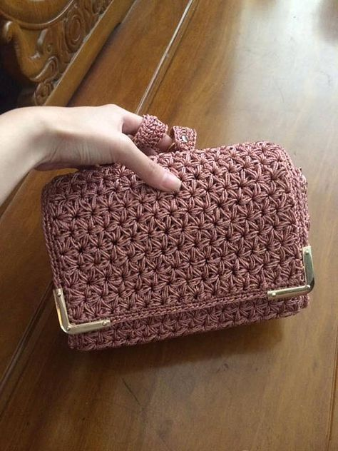 Tutorial Borsa Uncinetto Mod Bolsas Pinterest Crochet
