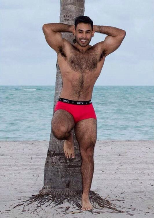 man beach Hairy