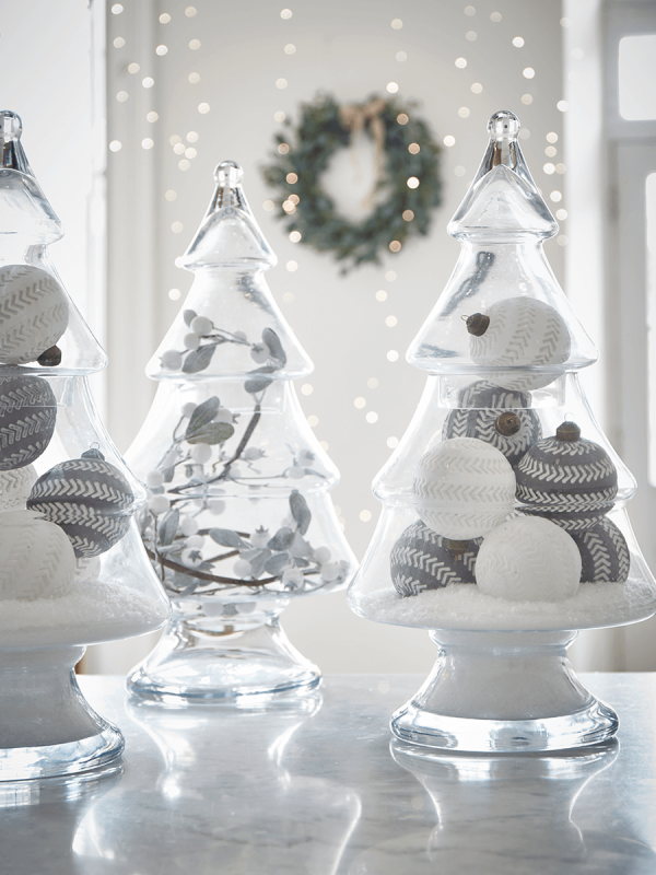 Glass Christmas Tree Jar - Christmas Accessories - Christmas Decorations | Christmas tree jar ...