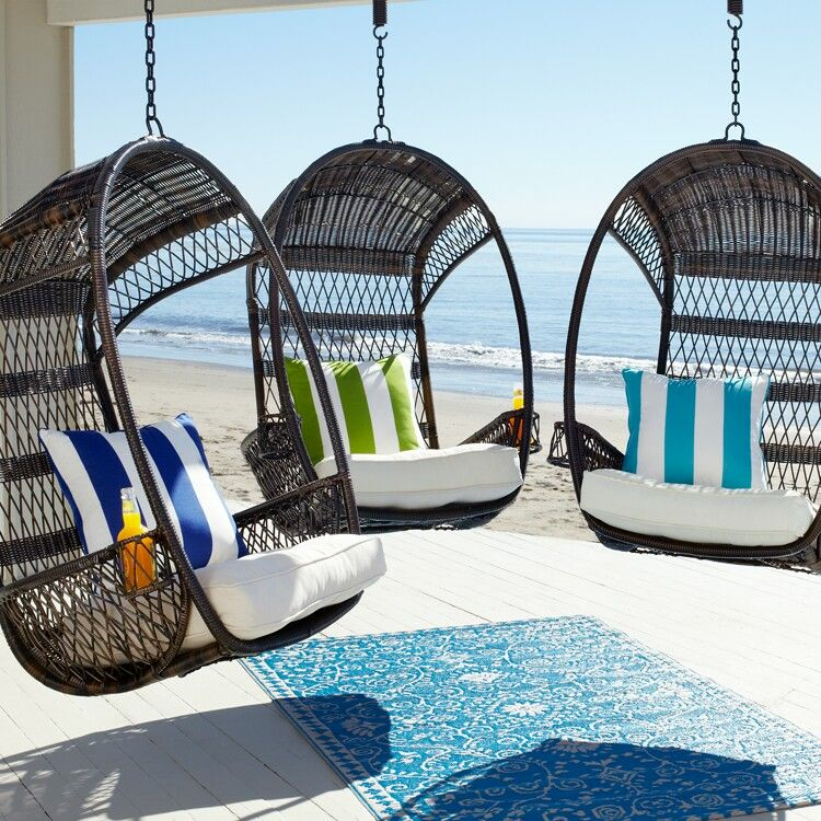 Beach Decor. Hanging Chairs Fron Pier 1 Imports