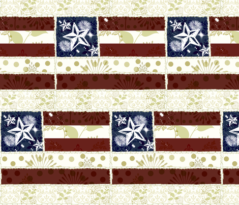 Vintage Flag Quilt - Large fabric by drapestudio on Spoonflower - custom fabric