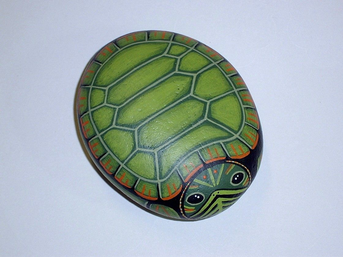 hand painted rocks | Turtle Rocks Hand Painted Rock Acrylic Pictures ...