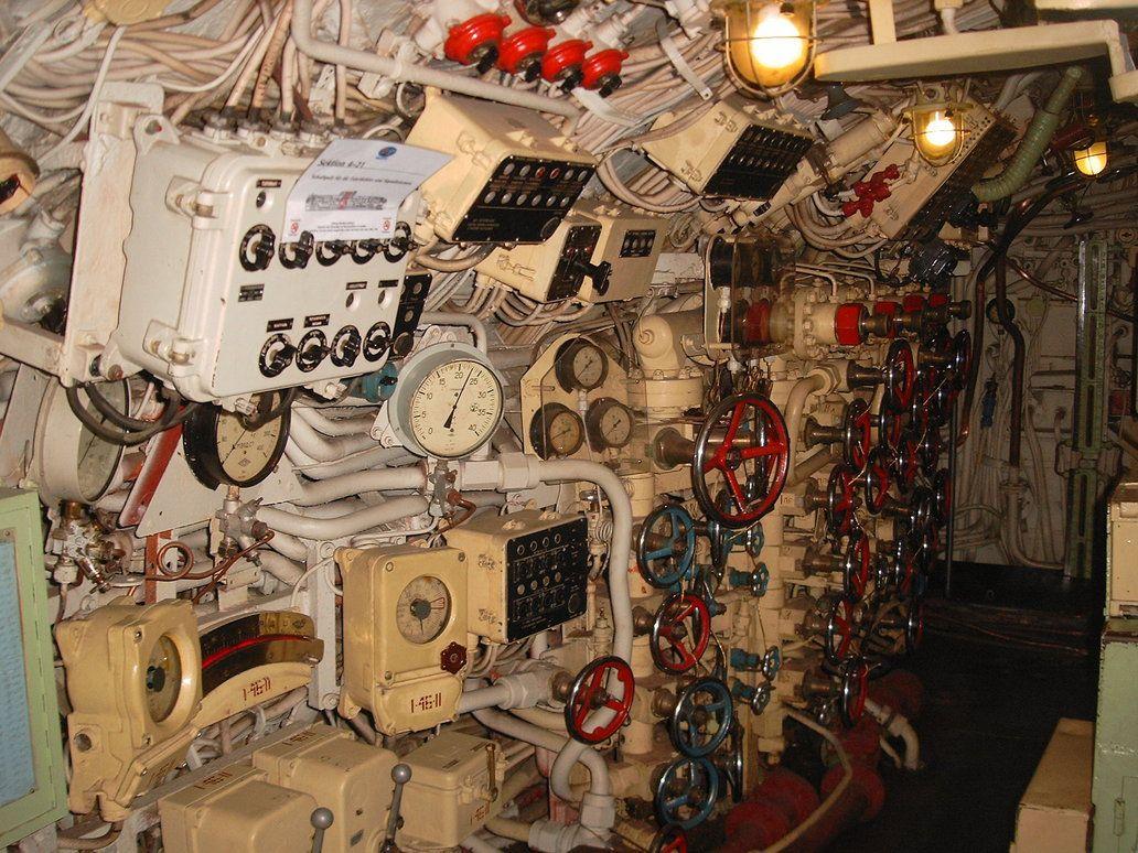 submarine inside by bercerk