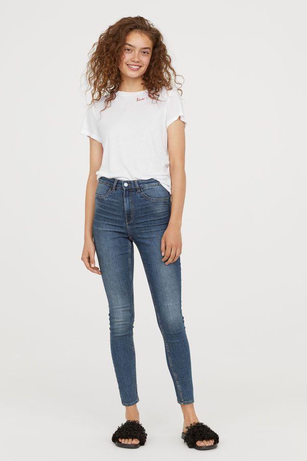 replicas mayor descuento venta de tienda outlet Super Skinny High Jeans | Azul denim oscuro | MUJER | H&M CO ...
