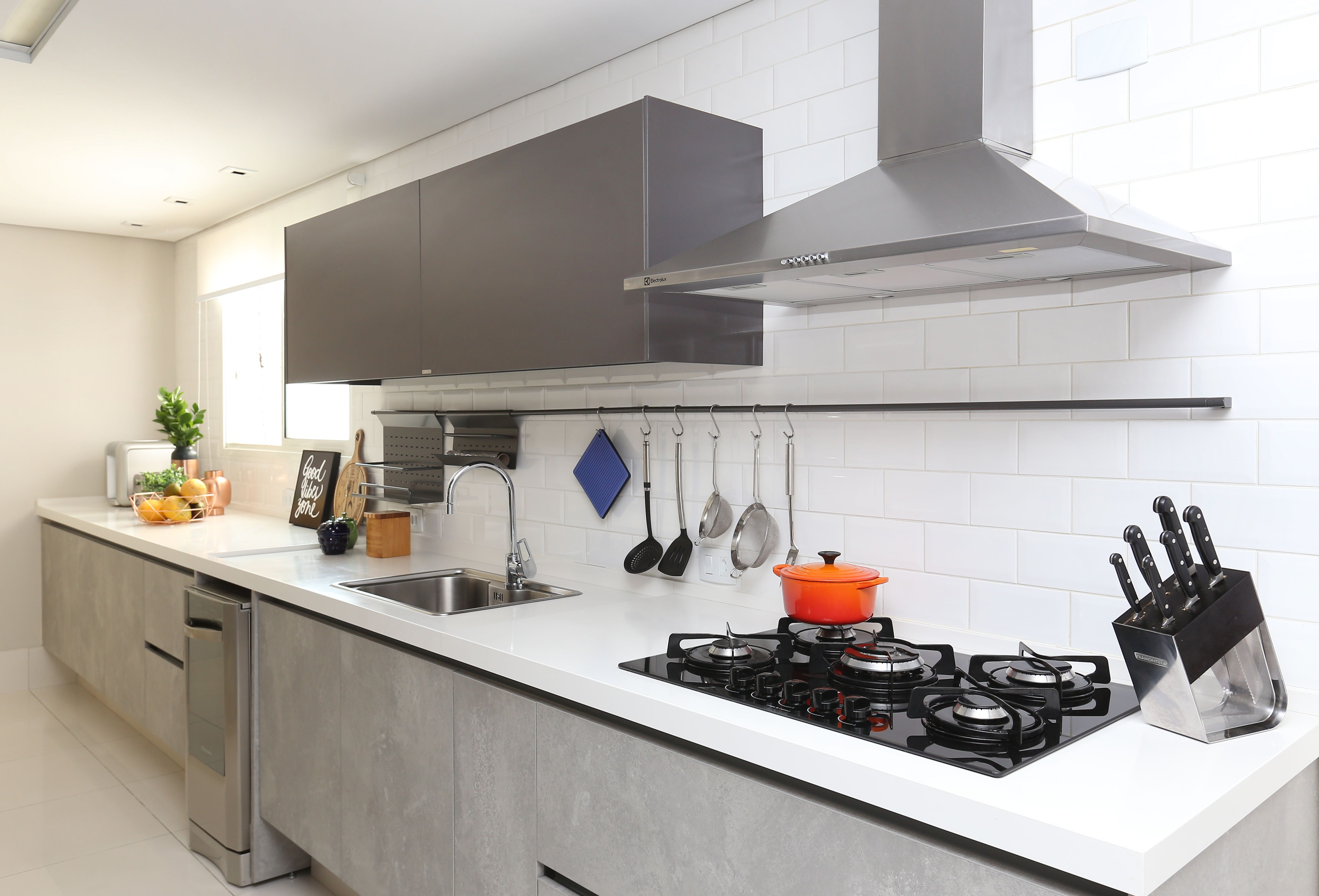 Cozinha Americana Projetada Amazing Na Cozinha As Bancadas De