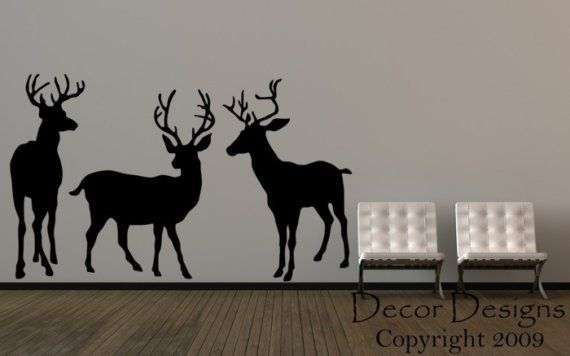 3 Deer  Wall Decal by DecorDesigns on Etsy, $149.99