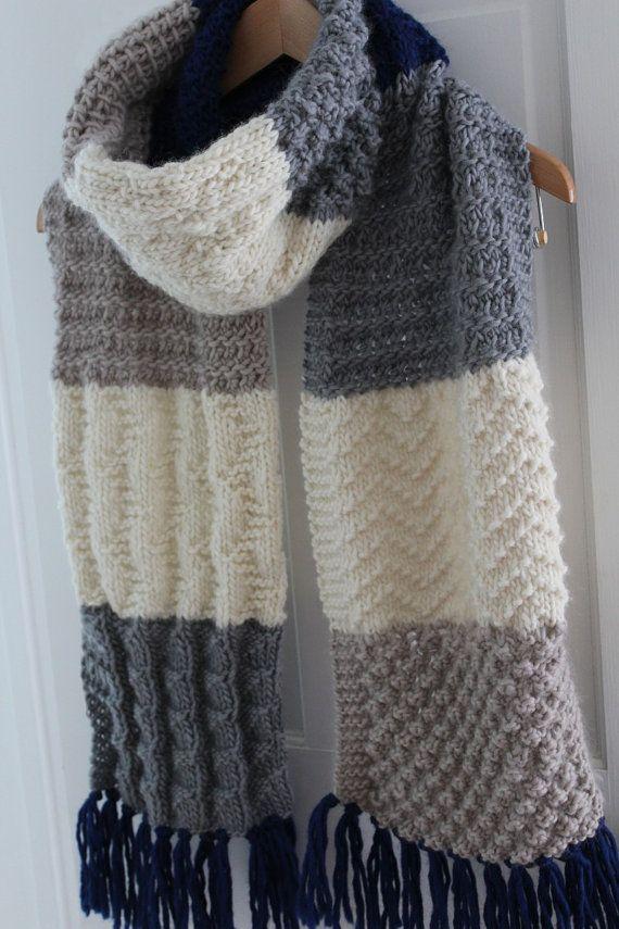KNITTING PATTERN Super Size Sampler Scarf PDF knitting | scarf free ...
