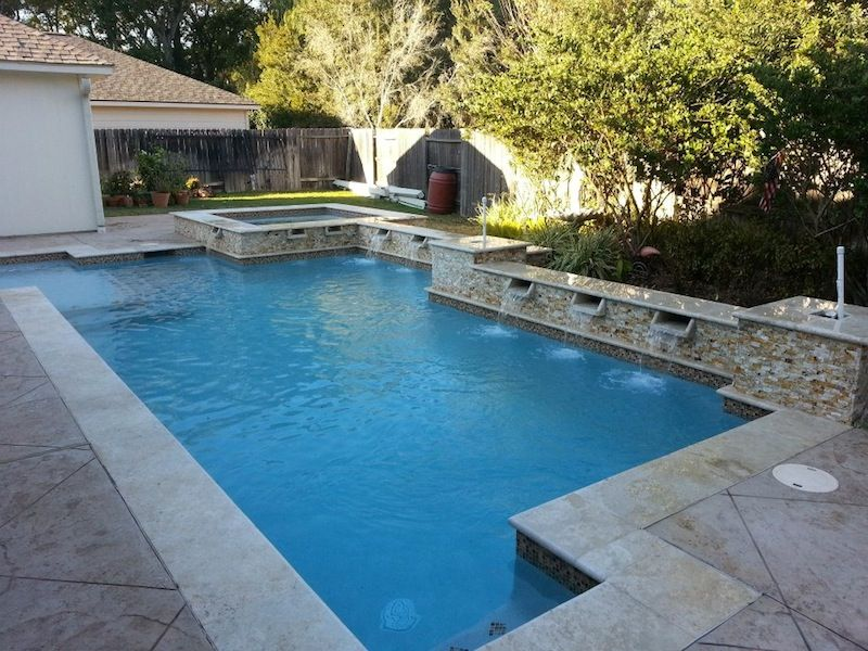 Houston Pool Design Gallery in 2019 | Geometric pool, Pool ...