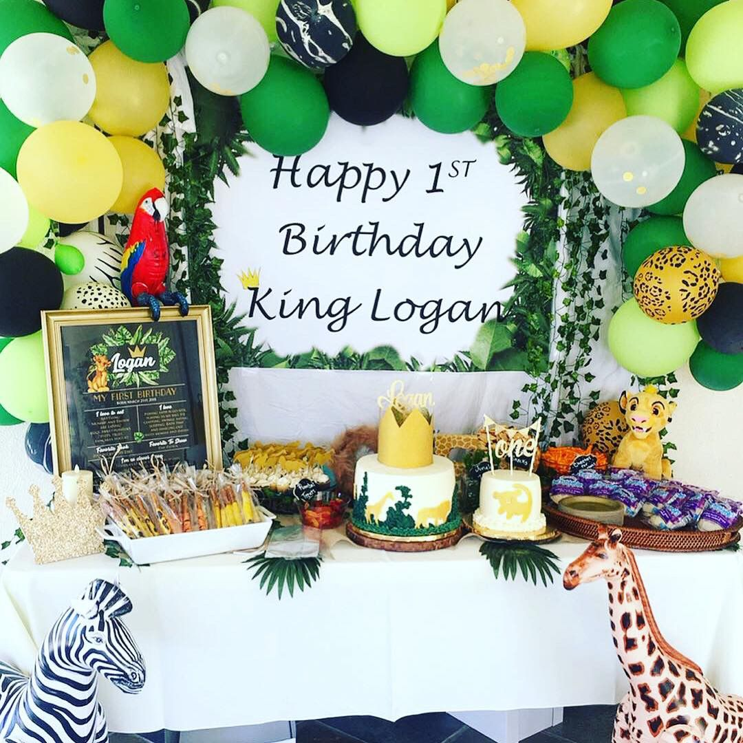 Our Little Kings First Birthday Lionkingbirthday