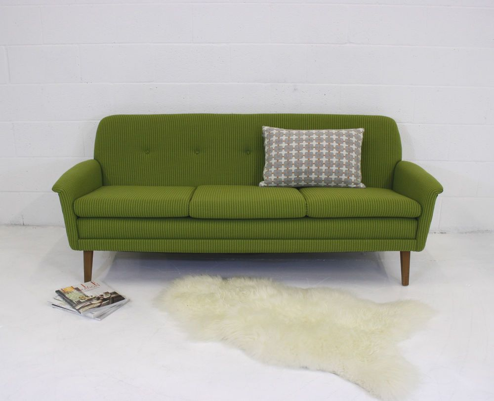 Refurbished Midcentury Folke Ohlsson Vintage Danish Sofa In Bute Wool Home Furniture Diy Sofas Armchairs Suites Ebay