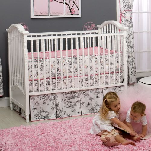 China Doll Toile Baby Bedding Poshtots