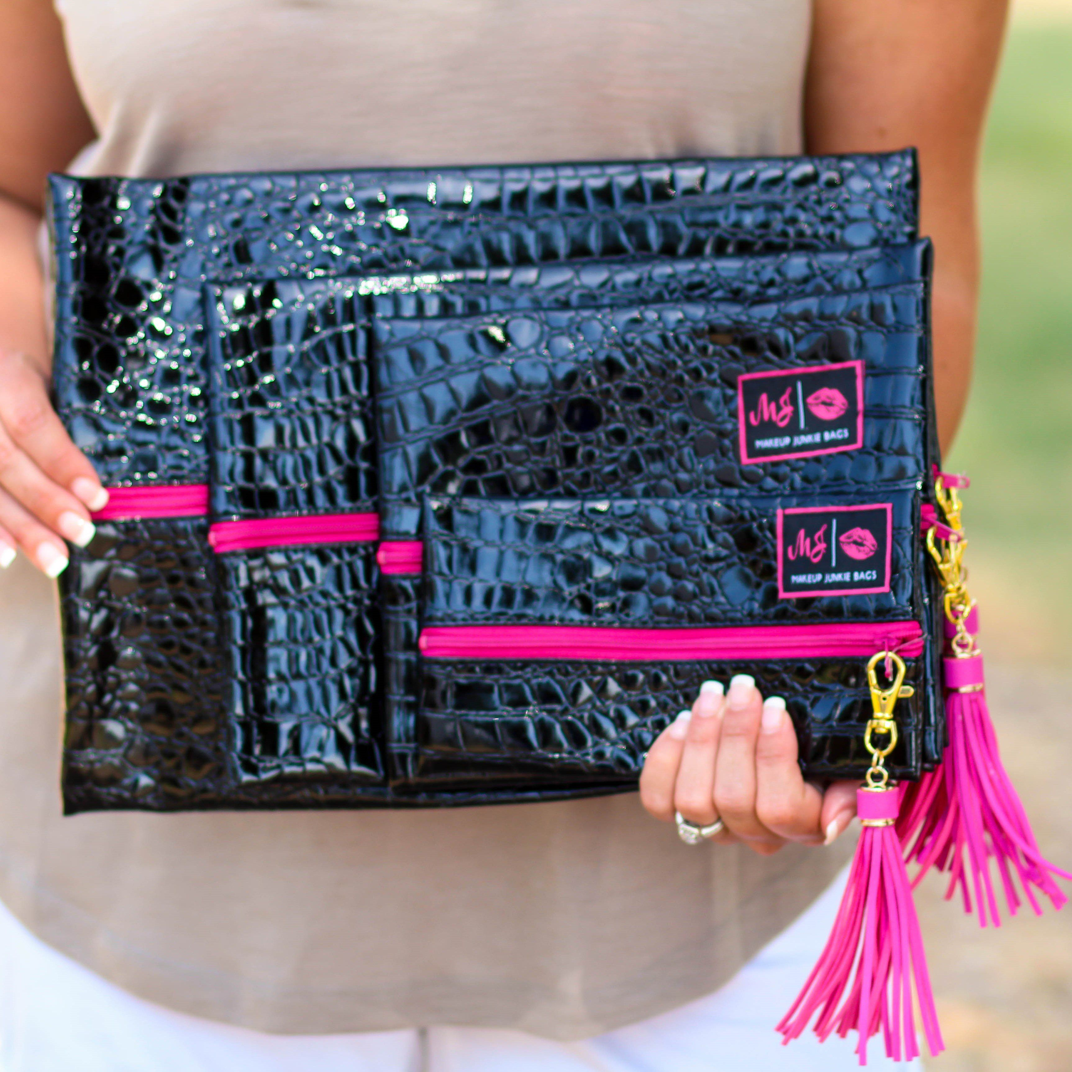 Makeup Junkie Bags in Midnight Pink Fashion, Bags