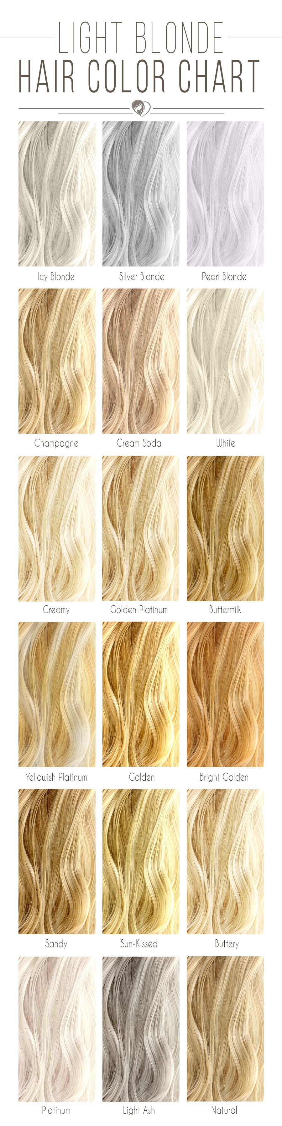 Blonde Hair Color Chart To Find The Right Shade For You Hair