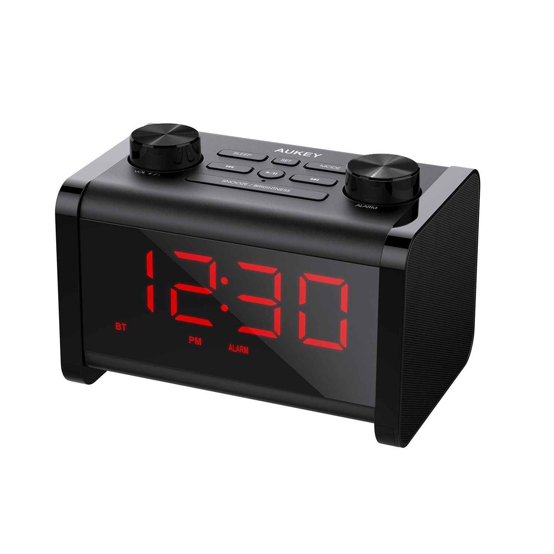 Aukey Radio Réveil Enceinte Bluetooth Avec Minuterie De