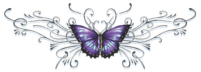 Purple Butterfly Tattoo With Name | Tattoo ideas | Pinterest ...