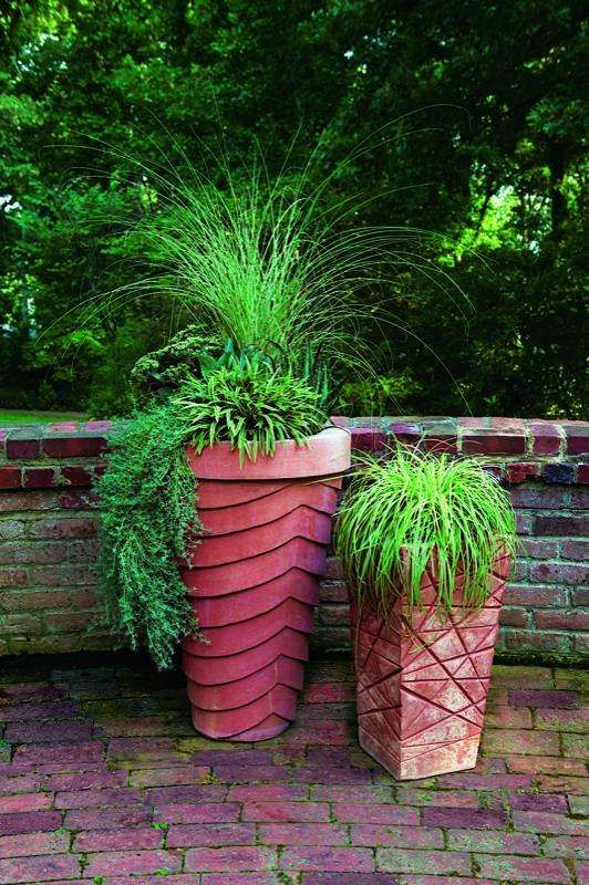 Chinaschilf Pflanzkübel hochdekorativ Ideen Hersteller Garten - pflanzgefase im garten ideen gestaltung
