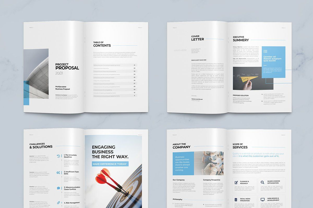 Ad Proposal 24 Pages by BrochuresFactory on