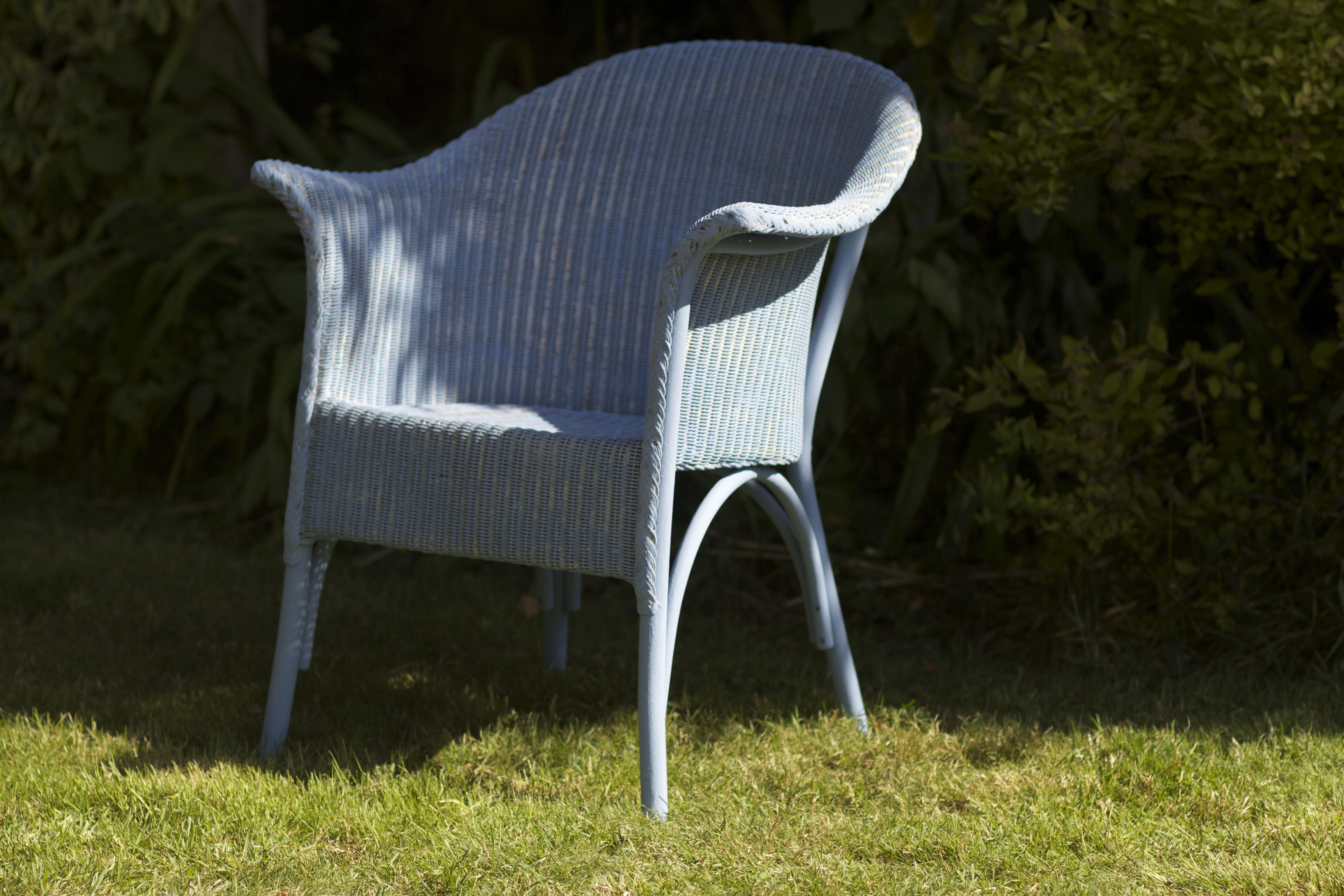 Lloyd Loom Chair After A Coat Of Annie Sloan Chalk Paint
