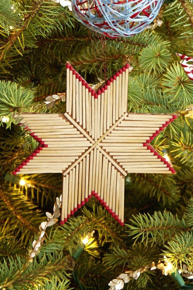 Addobbi Natale Fai Da Te.Creazioni Di Natale Fatte A Mano Stella Con Fiammiferi Albero Di Natale Con Addobbi Idee Di Natale Idee Natale Fai Da Te Natale Fai Da Te Tutorial