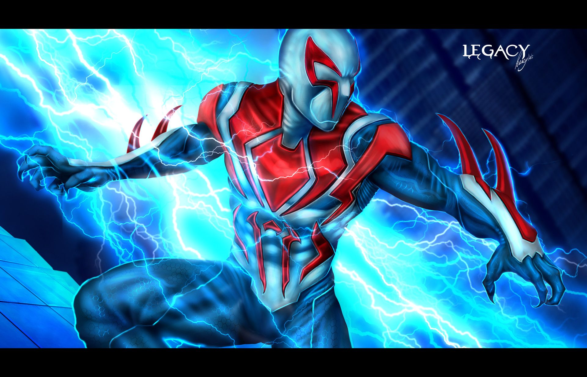 Spider Man 2099 Art Station Artstation All New All Different Spider Man 2099 Legacy 777 Spiderman Ghost Rider Marvel Hello Kitty Colouring Pages
